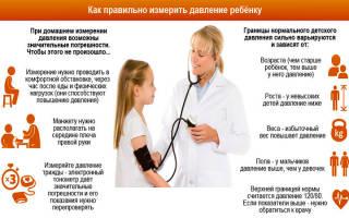артериальное давление норма у детей 7 лет